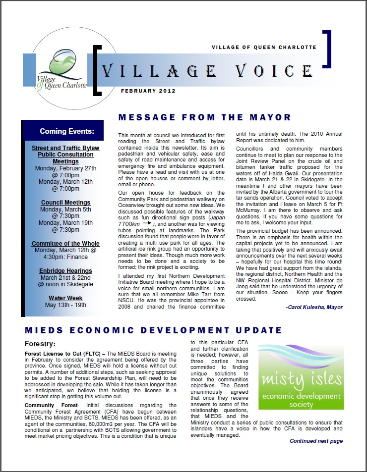 February Village Voice